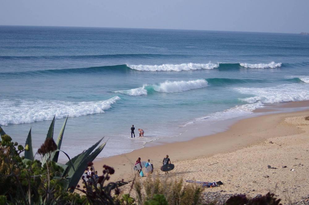 Surfcamp in Algarve Beach view