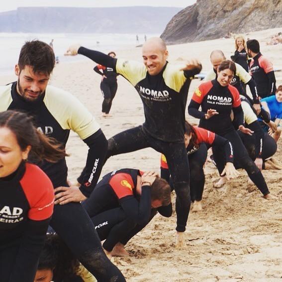 Surfcamp in Algarve Warm up