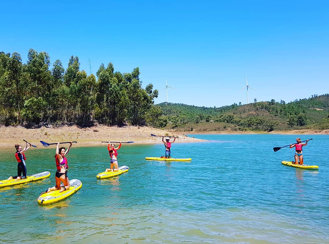 Surfcamp in Algarve Paddle Board tour