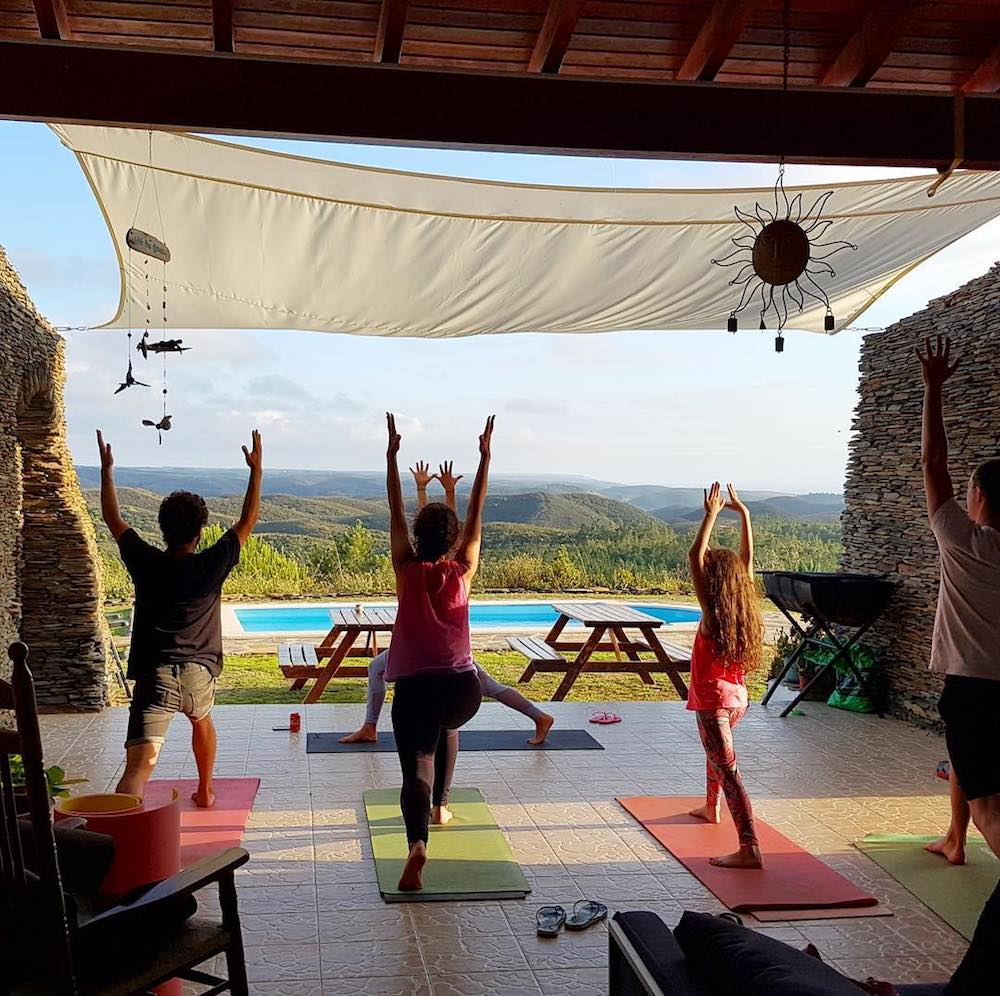 Surfcamp in Algarve Yoga Session