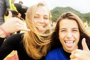 North Spain Teens Camp hang loose vibes