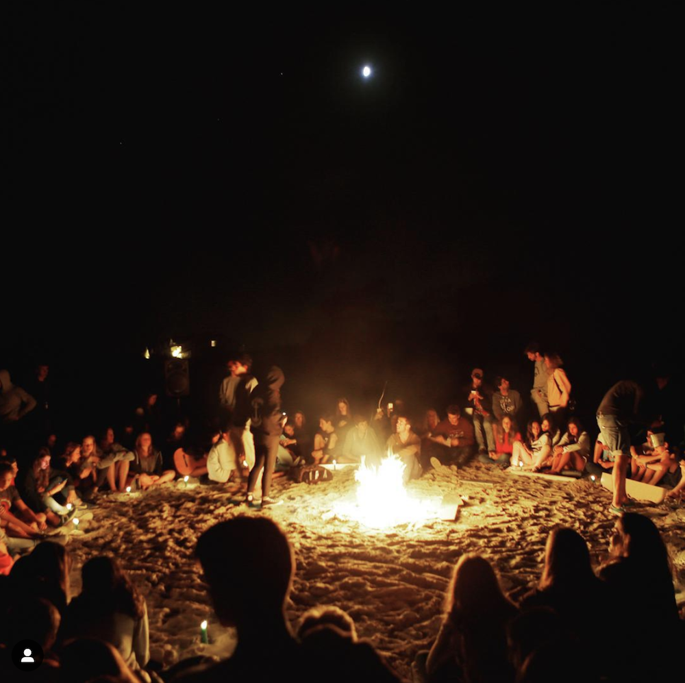 North Spain Teens Camp Bonfire
