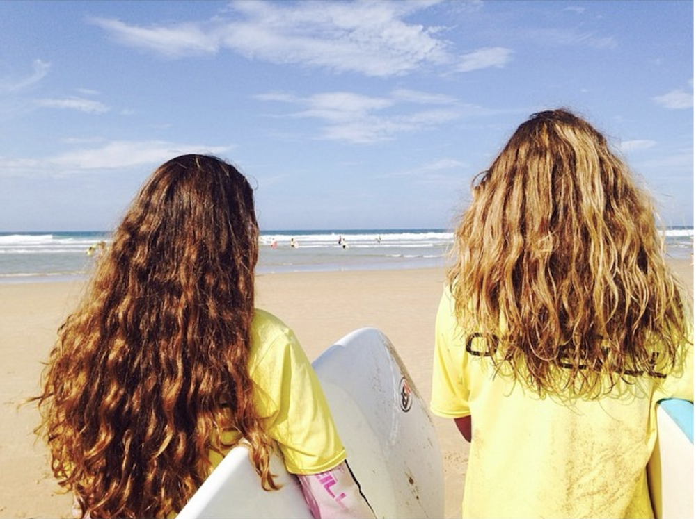 North Spain Teens Camp girls ready to surf
