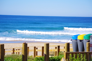 Surfcamp in Algarve beach view