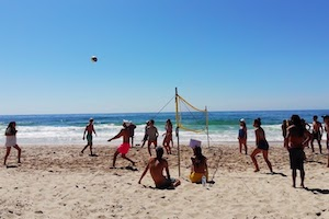 Surfcamp in Algarve Beach Volleyball