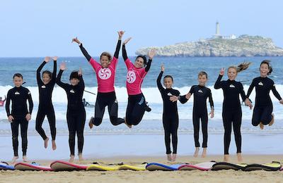 somo teenagers summer surf camp. cantabria, north spain