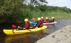 Ireland Kids Summer Surf Camp kayak experience