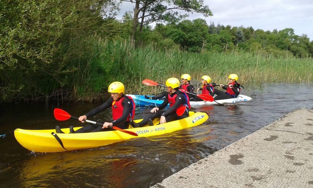 Ireland Kids Summer Surf Camp kayak experience