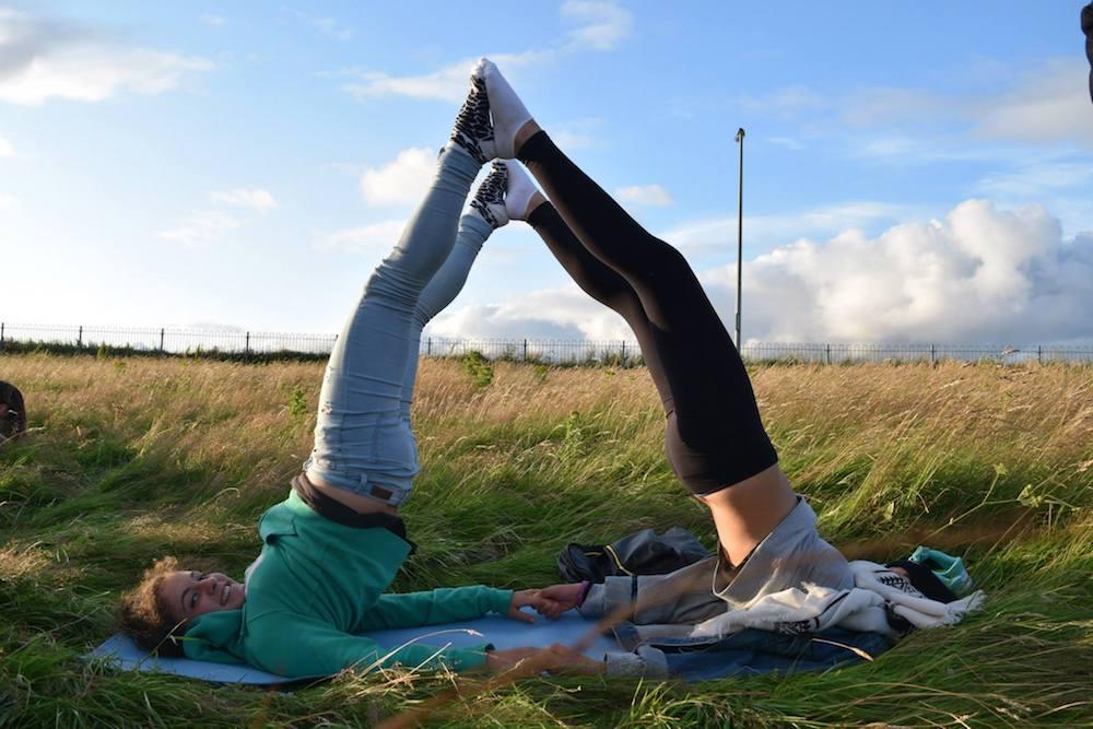 Ireland Kids Summer Surf Camp Stretching