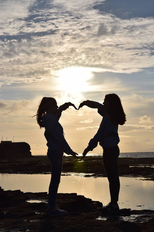 Ireland Kids Summer Surf Camp Sunset pose