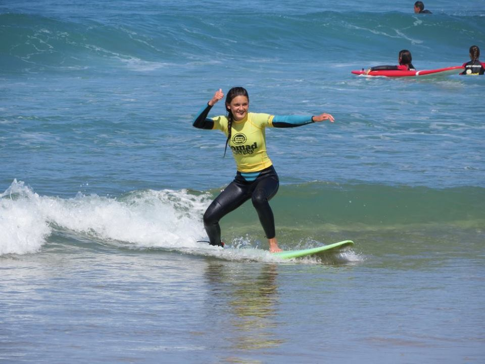 Surf-School-Teens-Camp-Lisbon-first-day-surfing