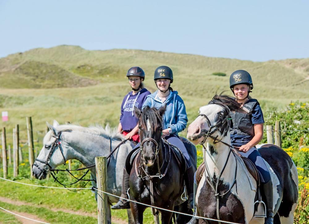 Ireland Kids Summer Surf Camp mountain horse riding
