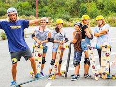 Skate gang at Razo Beach - Galicia Teens Surf Camp