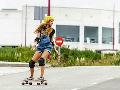 Skategirl practicing - Galicia Teens Surf Camp
