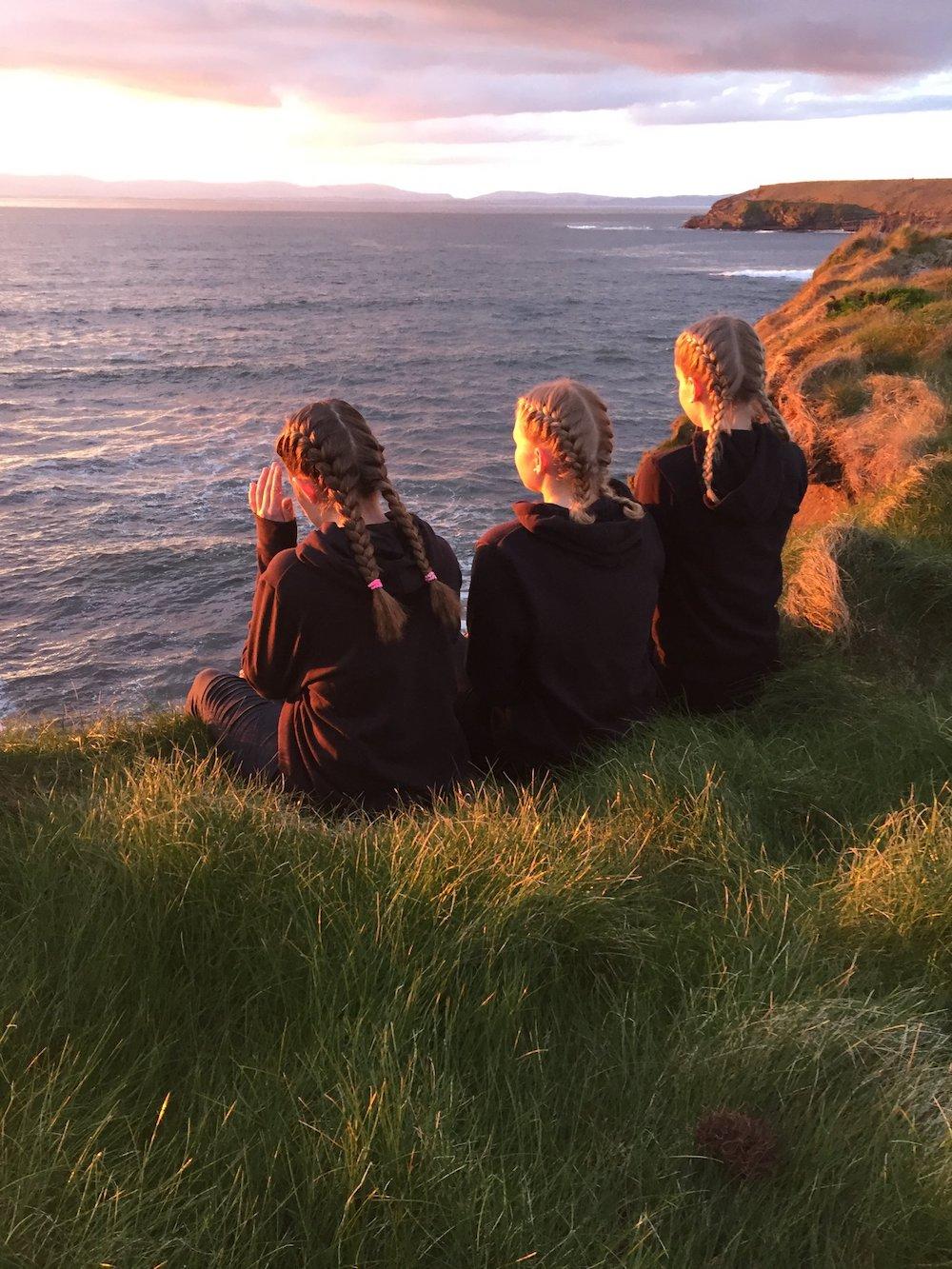 Ireland Kids Summer Surf Camp Sunset view