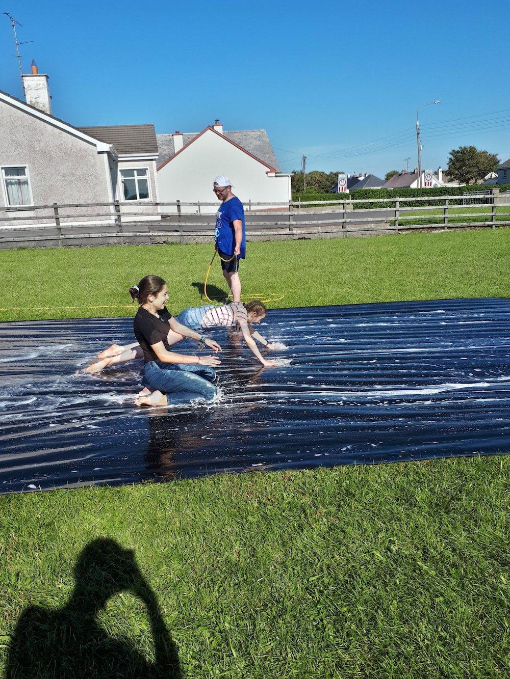 Ireland Kids Summer Surf Camp slide fun