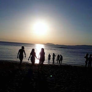 Ireland Kids Summer Surf Camp group sunset walk