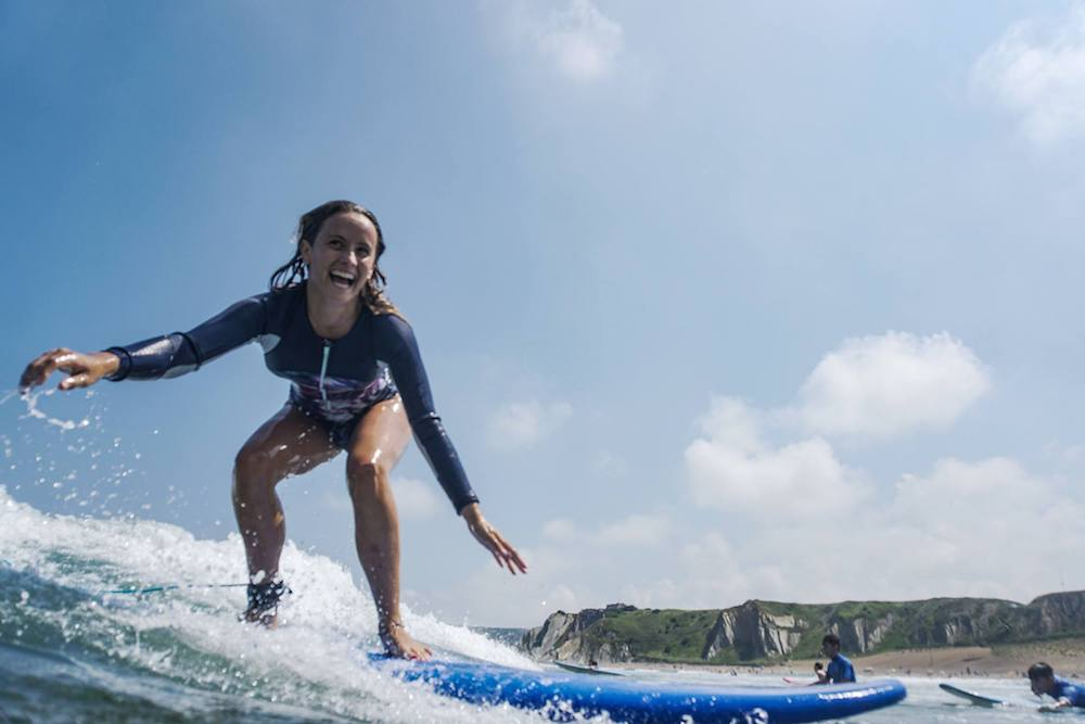 Bilbao Teens Surf Camp beginner lesson
