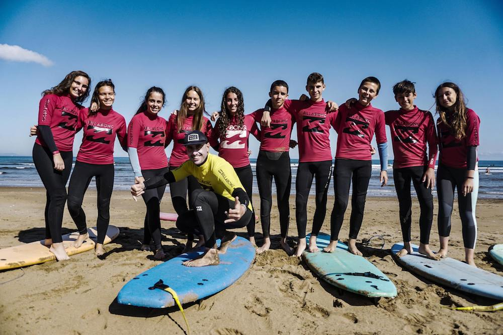 Bilbao Teens Surf Camp beginners camp