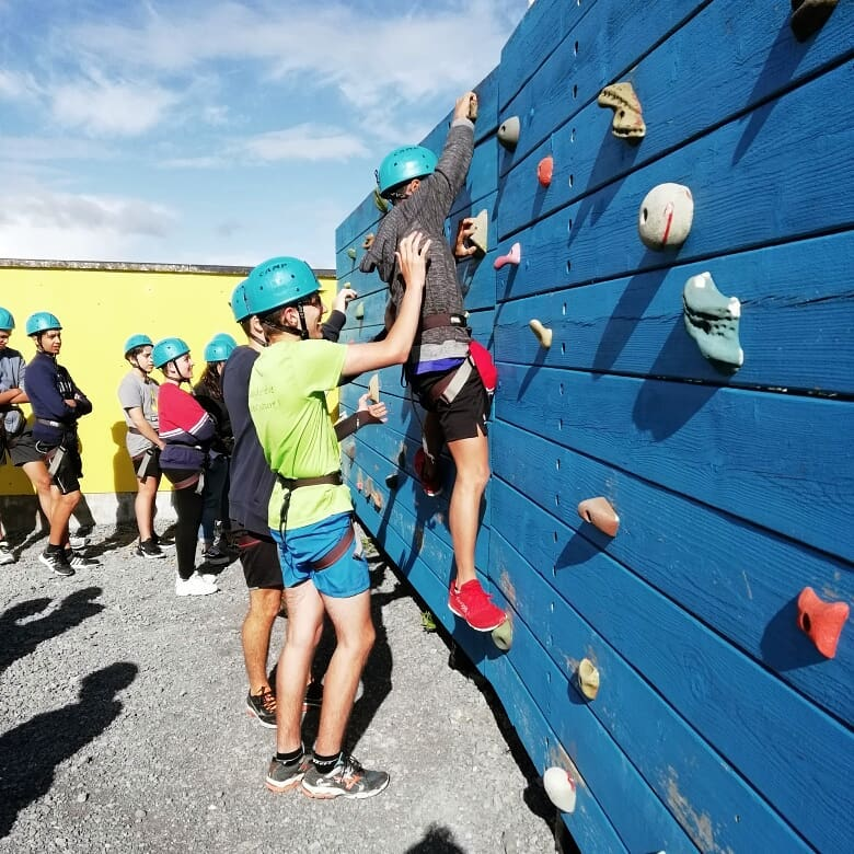 Ireland Kids Summer Surf Camp Climbing wall