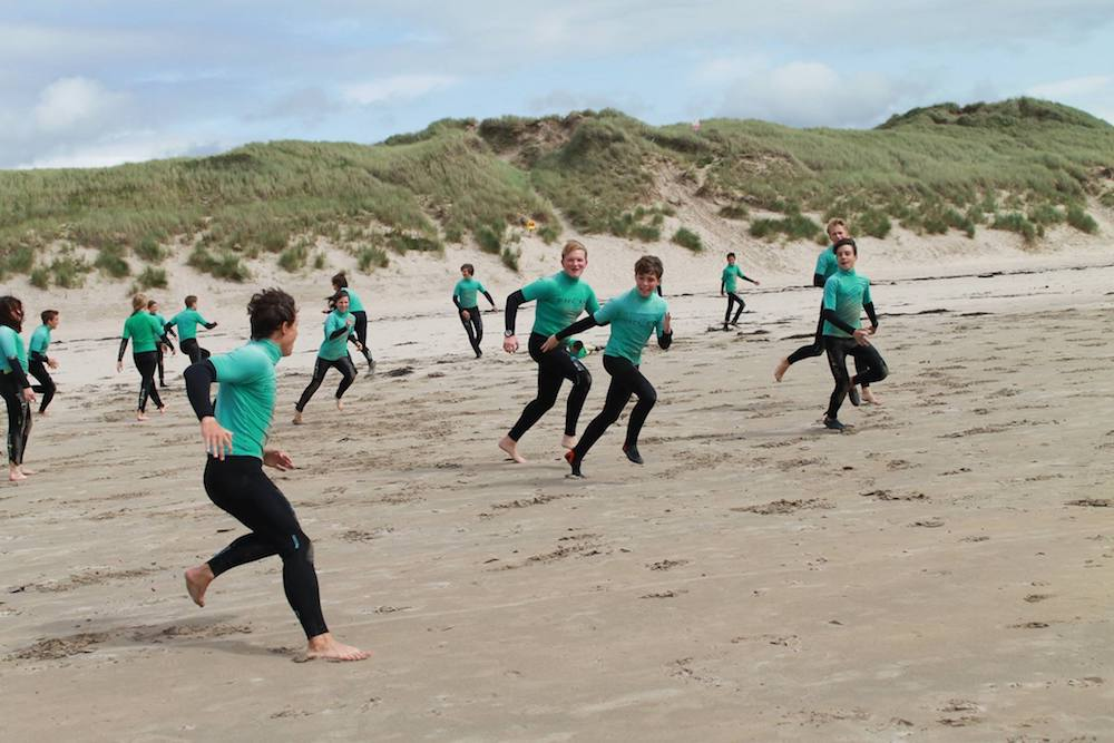 Ireland Kids Summer Surf Camp Surf Warm up
