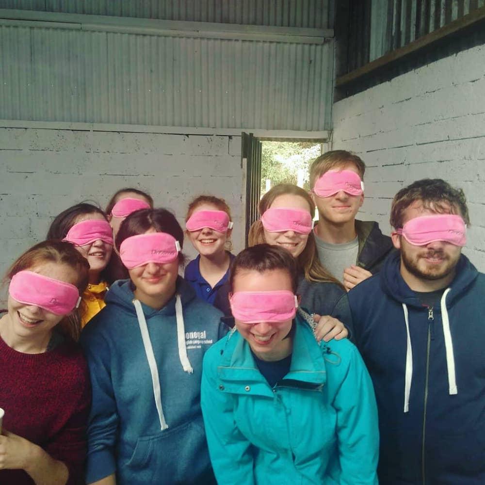 Ireland Kids Summer Surf Camp eyes covered