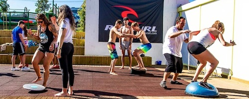 Tarp surfing - Galicia Teens Surf Camp
