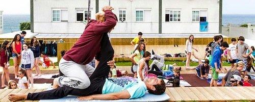 Stretching - Galicia Teens Surf Camp
