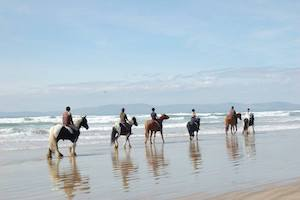 Ireland Kids Summer Surf Camp Beach horse riding