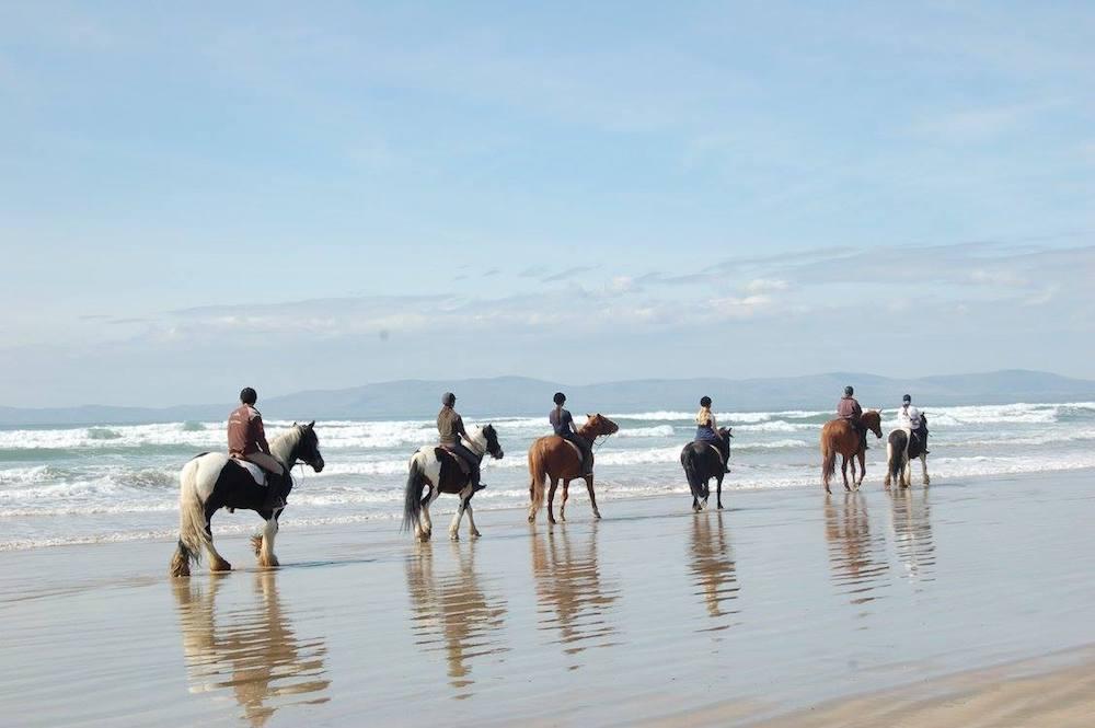 Ireland Kids Summer Surf Camp Beach horse riding