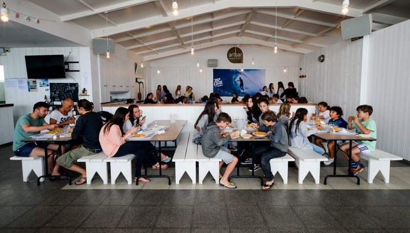 Artbar restaurant area - Galicia Teens Surf Camp