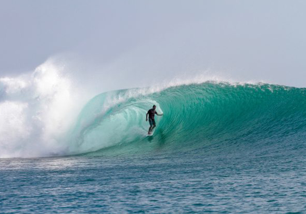 Epic barrel in G-Land
