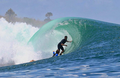 Epic barrel in Indonesia
