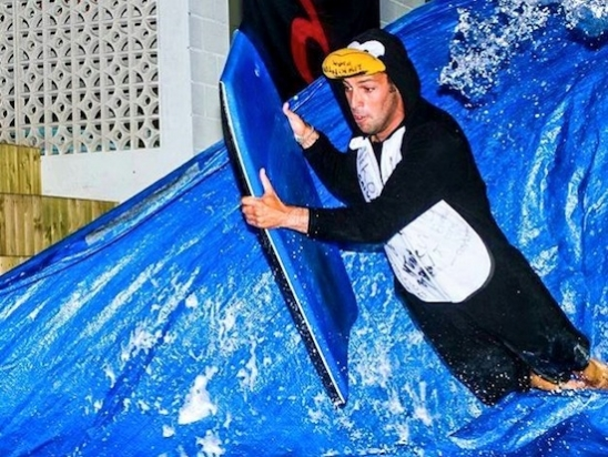 buggy board slide - Galicia Teens Surf Camp