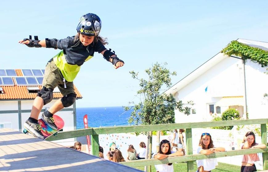 Little girl skating - Galicia Teens Sruf Camp
