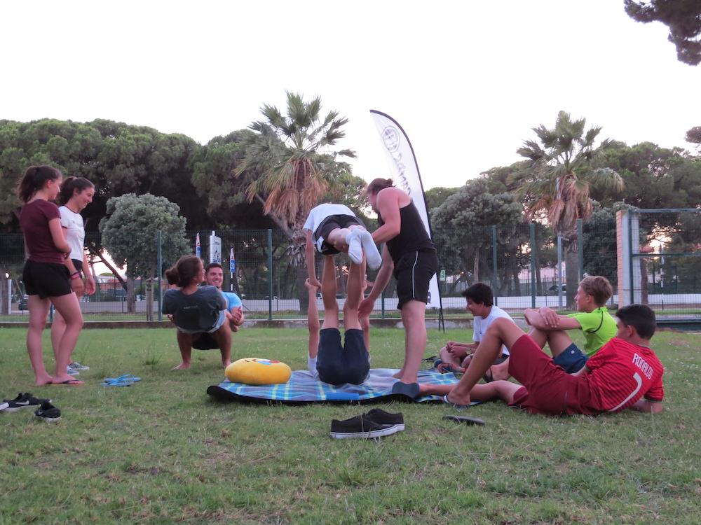 Surf School Teens Camp Lisbon acrobatics workshop