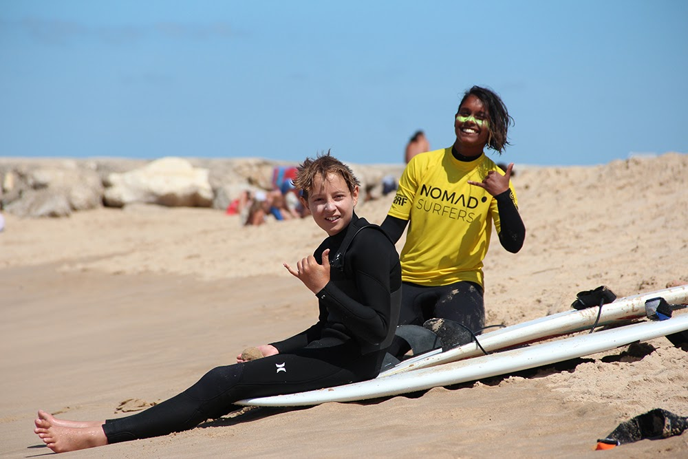 Surf School Teens Camp Lisbon smily faces