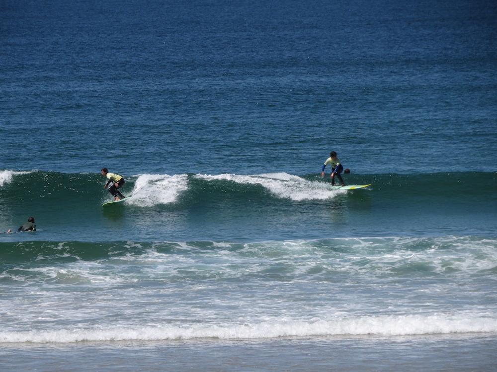 Surf School Teens Camp Lisbon both side wave