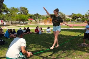 Surf School Teens Camp Lisbon Slack Line