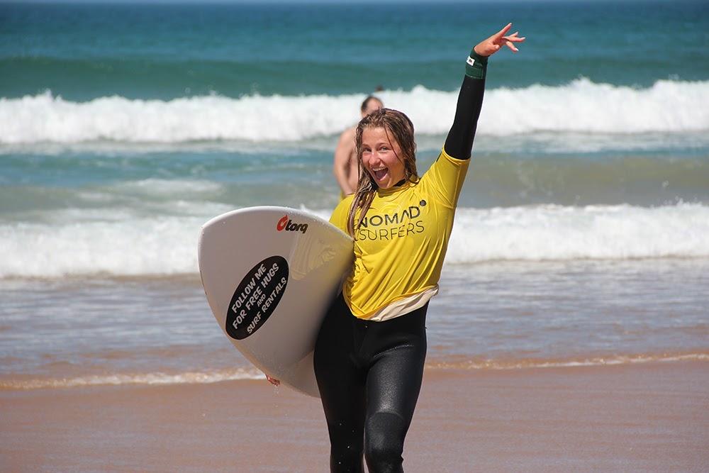 Surf School Teens Camp Lisbon after surf session