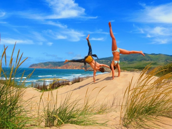 Lisbon Surf Camp Cascais - girls fun beach
