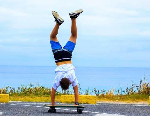 Skateboy uside - Galicia Teens Surf Camp
