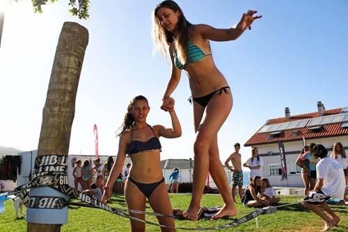 Slackline Galicia Teens Surf Camp