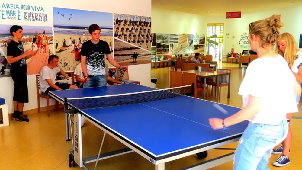 Surf School Teens Camp Lisbon Ping Pong competition