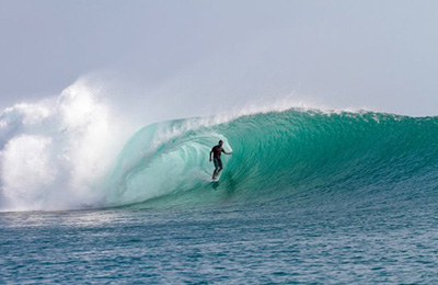 Stand up barrel in G-Land