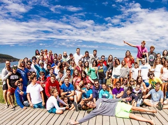 Group picture - Galicia Teens Surf Camp
