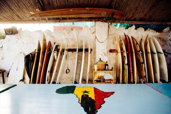 Surfboards in Senegal