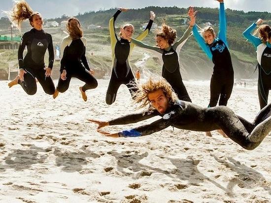 Surf warm up fun - Galicia Teens Surf Camp
