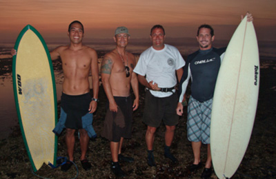 Surfer friends in G-Land