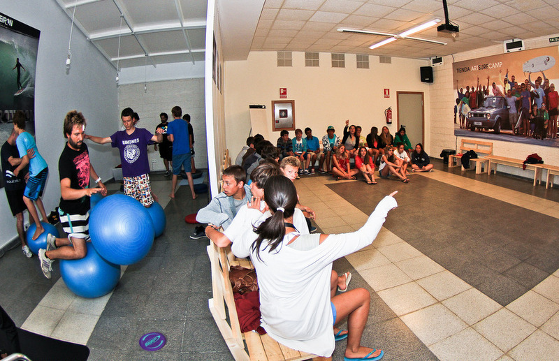 theory-class-room-galicia-teens-surf-camp
